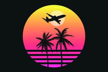 Paradise Palms Hawaii Silhouette Sea