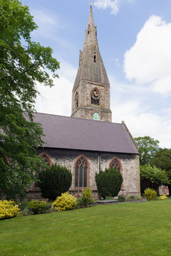 The of St Peter built in 1254 in the town of Ruthin North Wales
