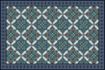 Arabesque pattern murals, Islamic art for multiple purposes