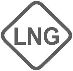 lng liquefied natural gas fuel sign -  fuel designations in the European Union - clean fuel - fuel alternative - codes - sticker - standardised