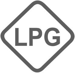 lpg liquefied petroleum gas fuel sign - propane butane - fuel designations in the European Union - clean fuel - fuel alternative - codes - sticker - standardised