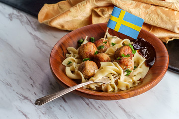 Swedish Meatballs Gravy Noodles