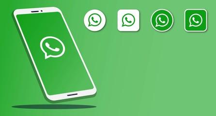 Rawang, Malaysia - November 11, 2019: Smart phone with instant messenger and social media logos Whatsapp