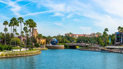 Universal Studios, Orlando, Florida, USA. Travel illustrative editorial image