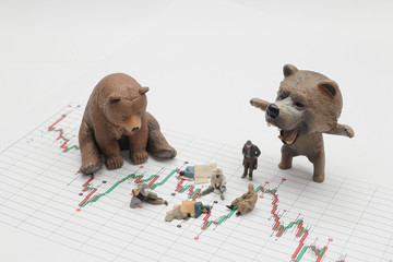 a figure of social problem withe the bear market