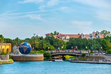 Universal Studios Orlando Florida USA. Travel illustrative editorial image