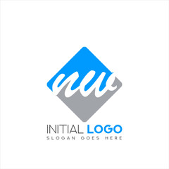 Initial logo NW with negative space