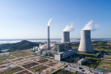 modern power plant near yangtze river