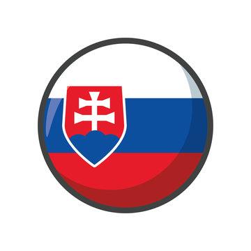 Isolated slovakia flag icon block design