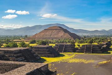 Pyramid of sun in Teotihuacan, mexico