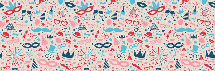 Carnaval Party - design of seamless texture. Vector