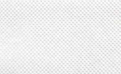 Close-up of white color tissue paper texture background abstract. Detail texture of pattern with free space copy for text.