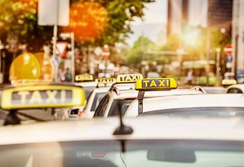 Taxi rank in Frankfurt