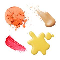 make-up cosmetics isolated on white background. professional make up