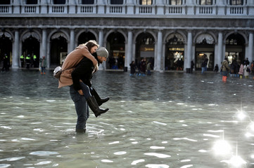 Flooding in the lagoon city of Venice