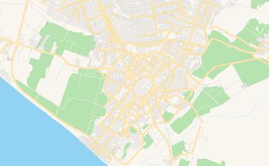 Printable street map of Trujillo, Peru