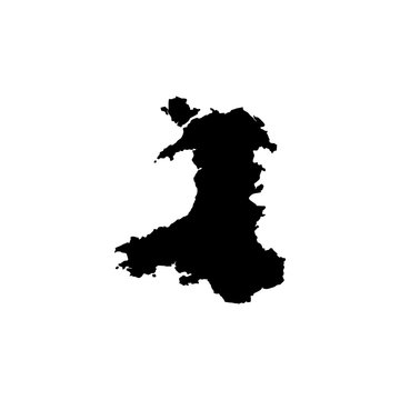 map of Wales. Vector illustration
