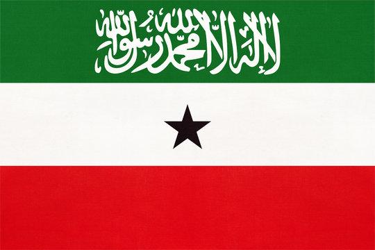 Republic of Somaliland national fabric flag, textile background.