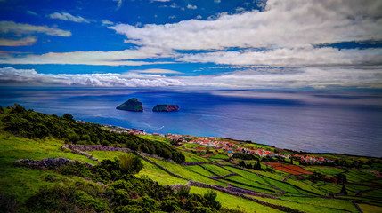 Sea view to Cabras islet, Terceira island, Azores, Portugal