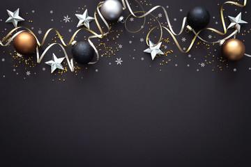 Christmas  decoration on dark background