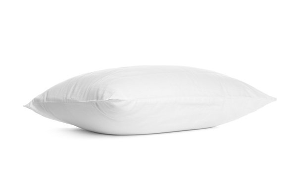 Blank soft new pillow isolated on white
