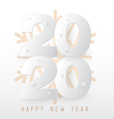 Happy New Year 2020. Background, greeting card, banner, social media banner, marketing material. Vector illustration