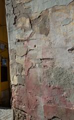 Fotobehang Oude vuile getextureerde muur Avelino. Campagna Italy.