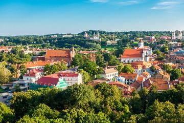 VILNIUS, LITHUANIA - September 2, 2017: Street view of downtown in Vilnius city, Lithuanian