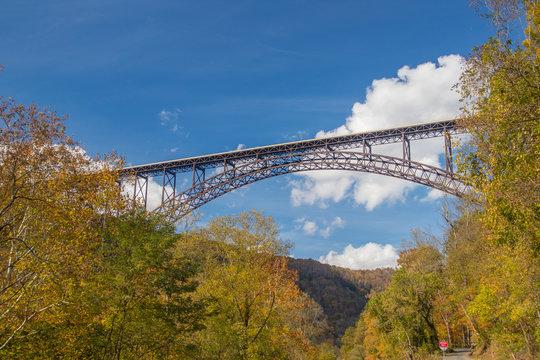 New River Gorge Bridge in West Virginia autumn