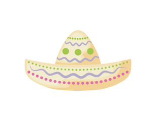 mexican hat in white background