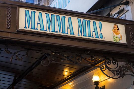 Mamma Mia at the Novello Theatre in London