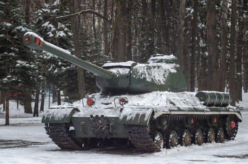IS-2 heavy tank monument in Victory park, Ulyanovsk