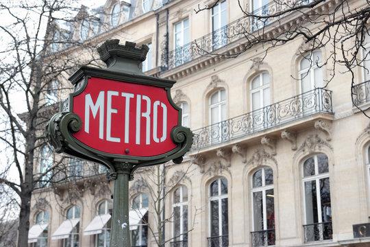 Retro Metro Sign in Paris