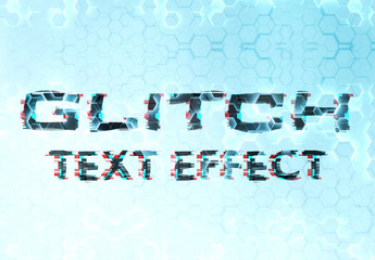 Glitch Text Effect Mockup