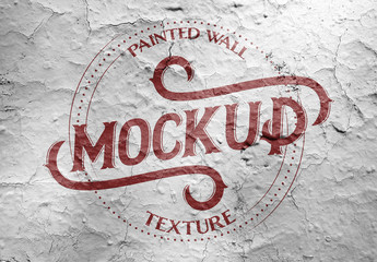 Painted Wall Texture Mockup