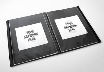 Black Leather Portfolio Mockup