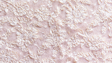 Seamless lace background with floral pattern