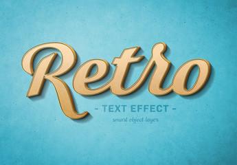 Retro Script Text Effect Mockup