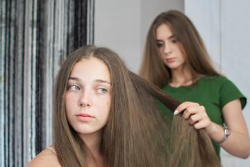 Pretty girl in a beauty salon