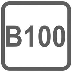 biodiesel B100 fuel sign - fuel designations in the European Union - diesel - fuel alternative - codes - sticker - standardised