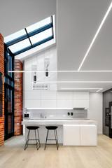 Modern kitchen with big window