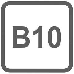 diesel B10 fuel sign - fuel designations in the European Union - biodiesel 10%- fuel alternative - codes - sticker - standardised