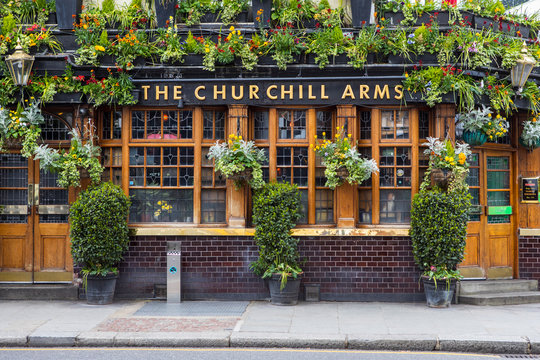 The Churchill Arms Public House in London