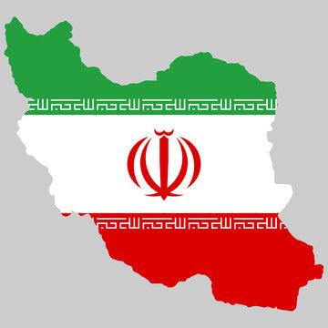 Map Flag of Iran Vector