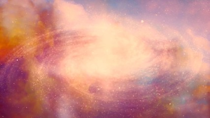 Fototapete - Spinning spiral galaxy. Vivid colors