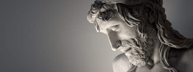 Banner - Marble sculpture of Jesus Christ.