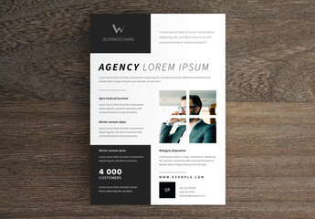 Business Flyer Layout with Black Accents