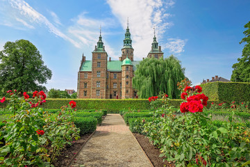 Famous Rosenborg castle, one of the most visited tourist attractions in Copenhagen