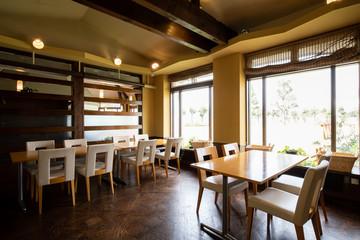 Fotobehang koffiebar レストランの内装