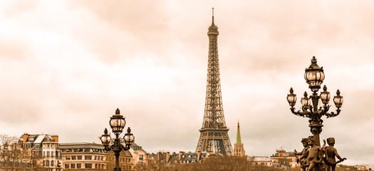 Tuinposter Eiffeltoren eiffel tower in paris